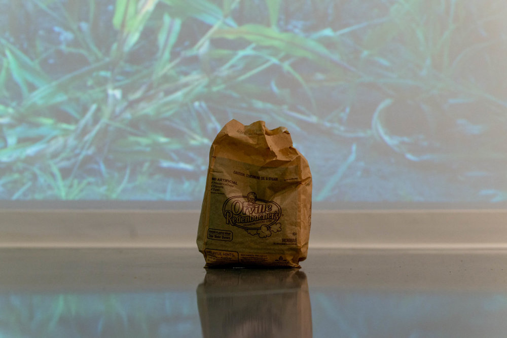 INTERACTIVE EXHIBIT FILLS EYES, EARS, MOUTHS WITH MAIZE   An installation at the McCarthy Art Gallery curated by Overnight Projects had its interactive performance component on Saturday, September 22 in the form of a guided, meditational meal of corn-based products.