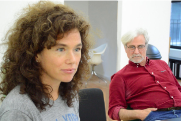 Artistic Director Vieve Price and Director John Gould Rubin in a training of Insight Theory