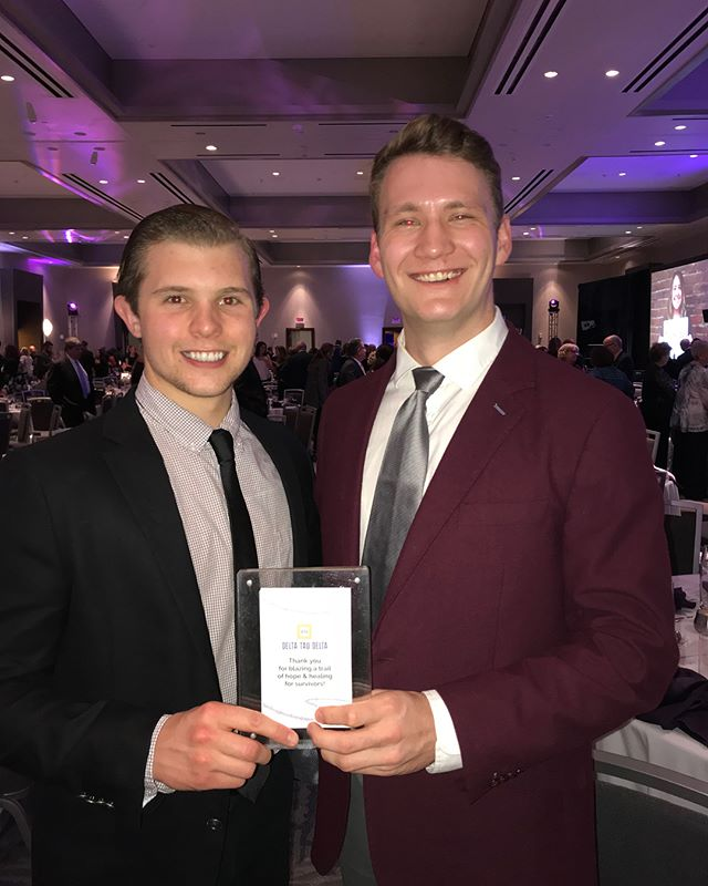 Groups of brothers both attended and volunteered at the BARCC gala this past weekend! We are incredibly proud to be leading the way in the fight against sexual assault and making our campus and city a safer place!