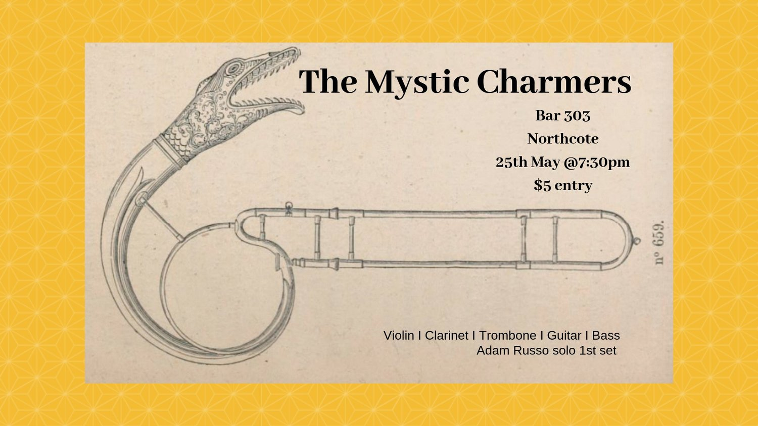 Adam Russo the mystic charmers + adam russo — 303 - live music and bar