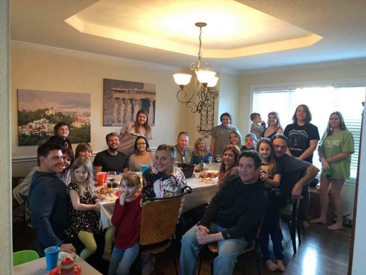 Kimberly and her husband enjoyed a house full of family for the Holidays!