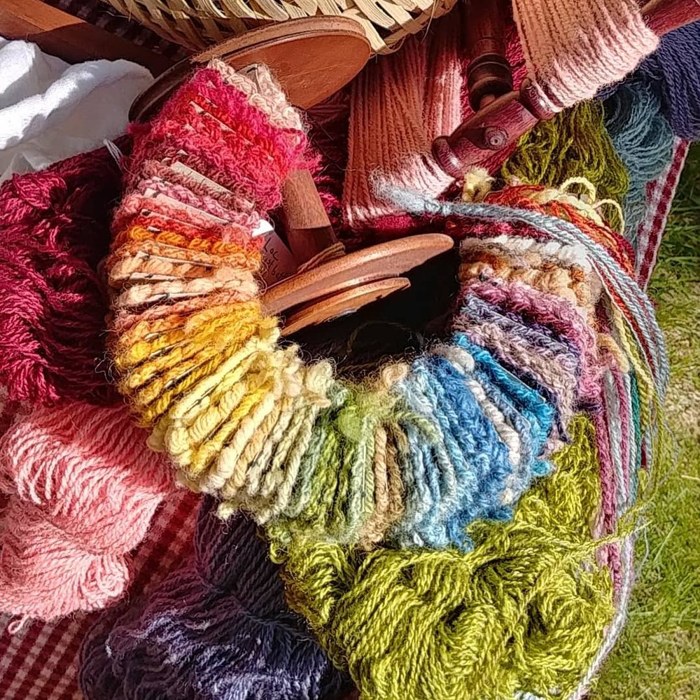 Naturally Dyed Yarns and Swatches
