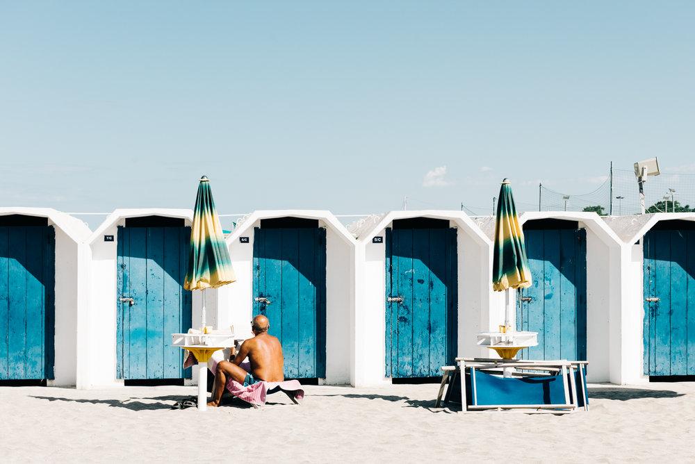 Sunbathing Man Puglia