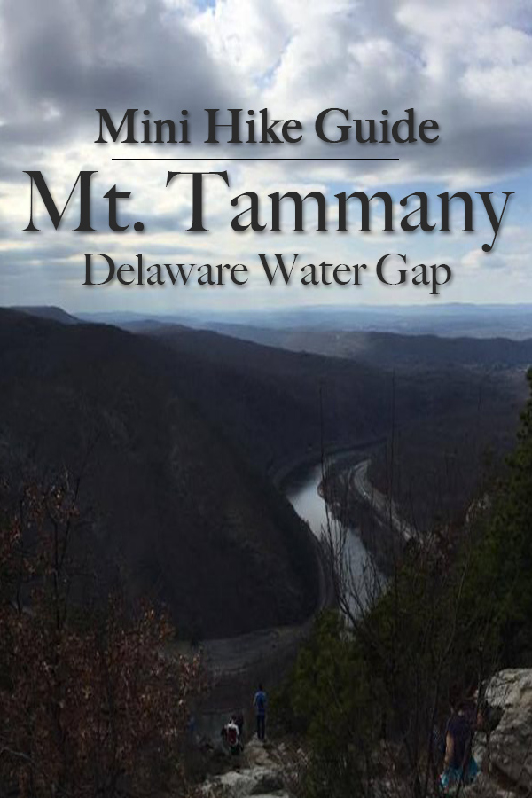 Mini Hike Guide to Mount Tammany on the east side of the Delaware Water Gap in New Jersey.
