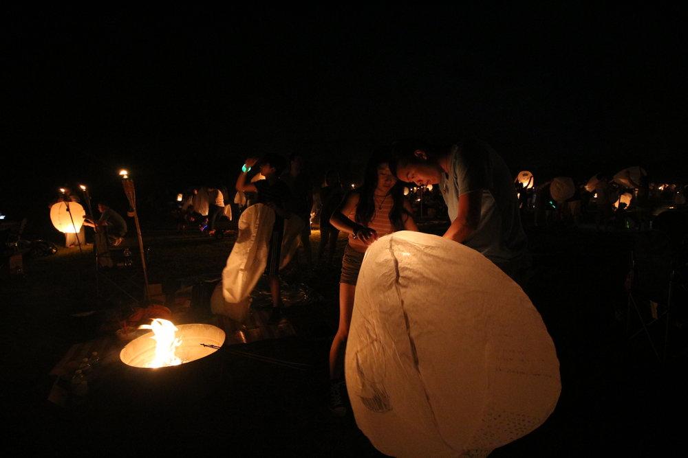 lanterns setup