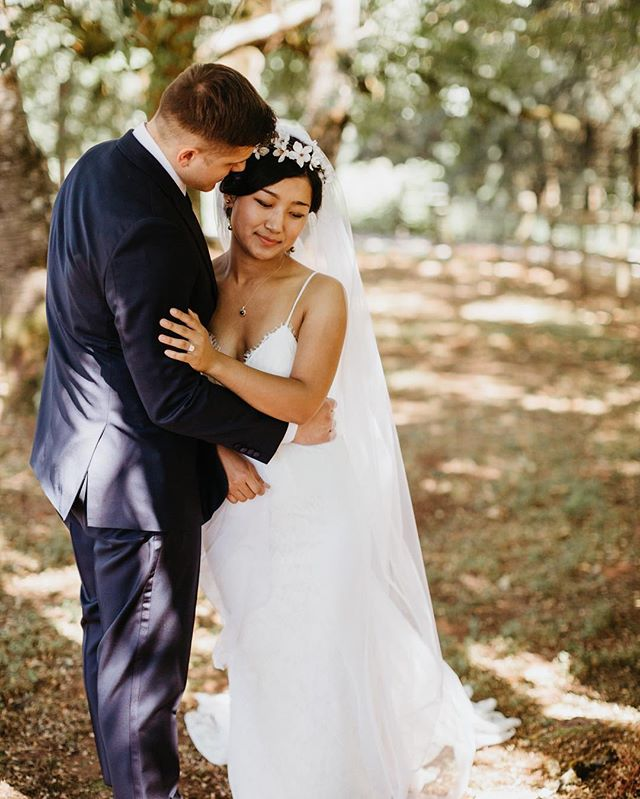Magic under the trees on their wedding day in July ✨