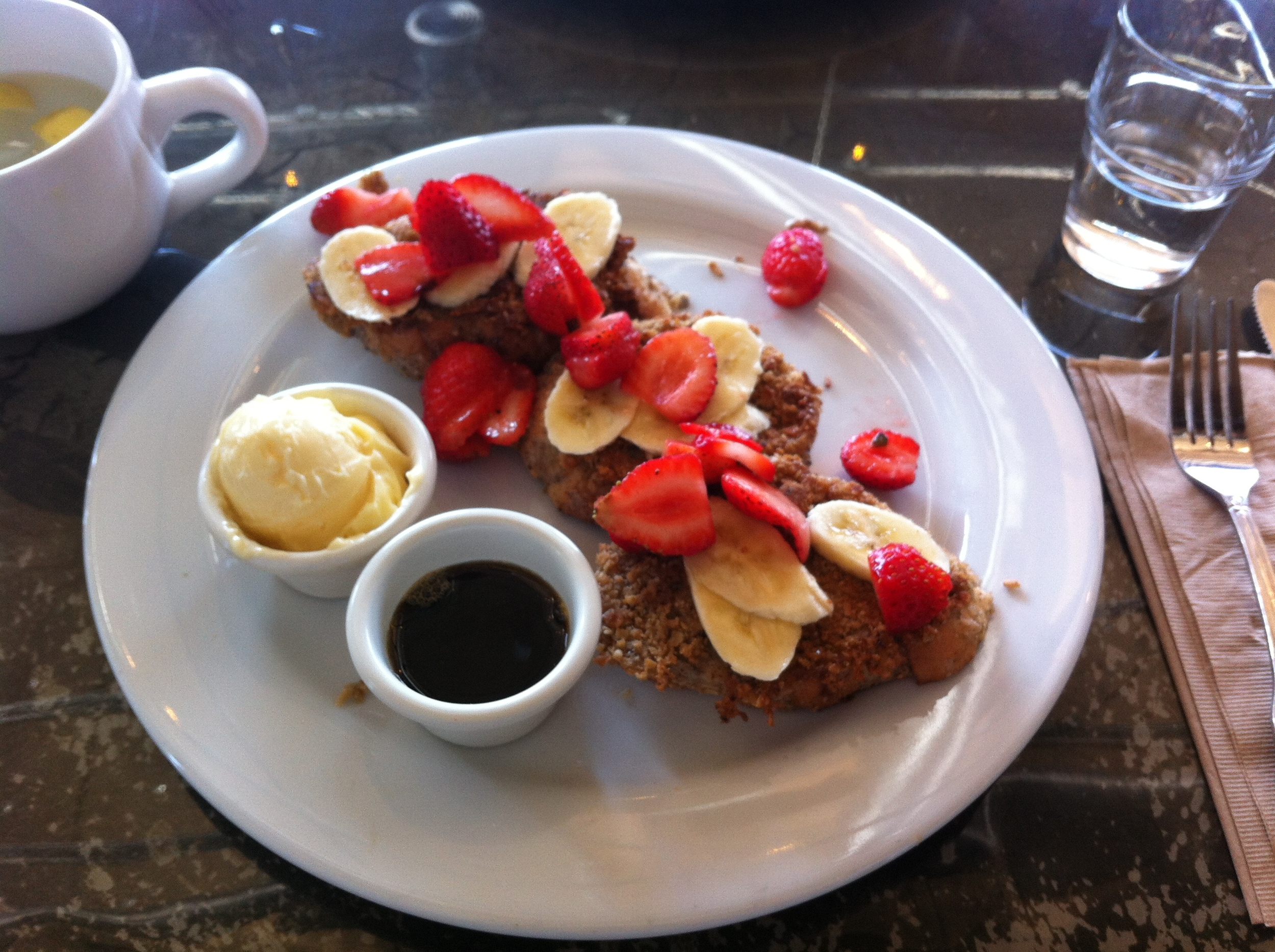 Vegan French Toast @ Sage Bistro, Culver City, Los Angeles