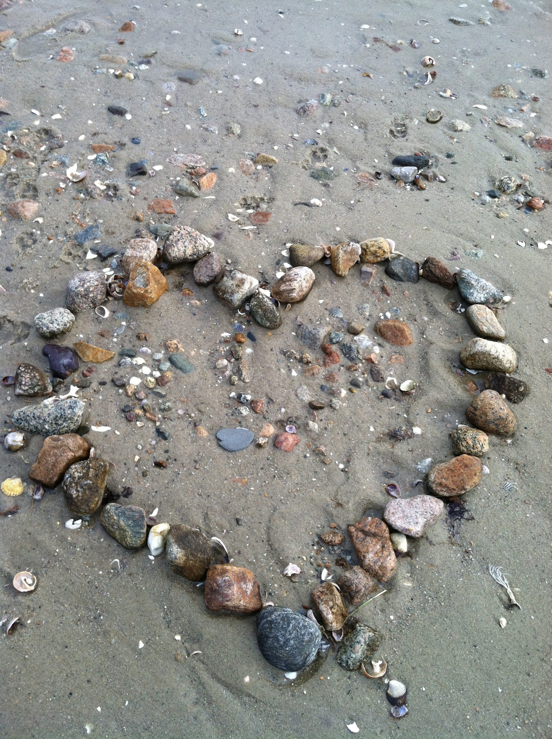 Patricia's Heart at the Beach