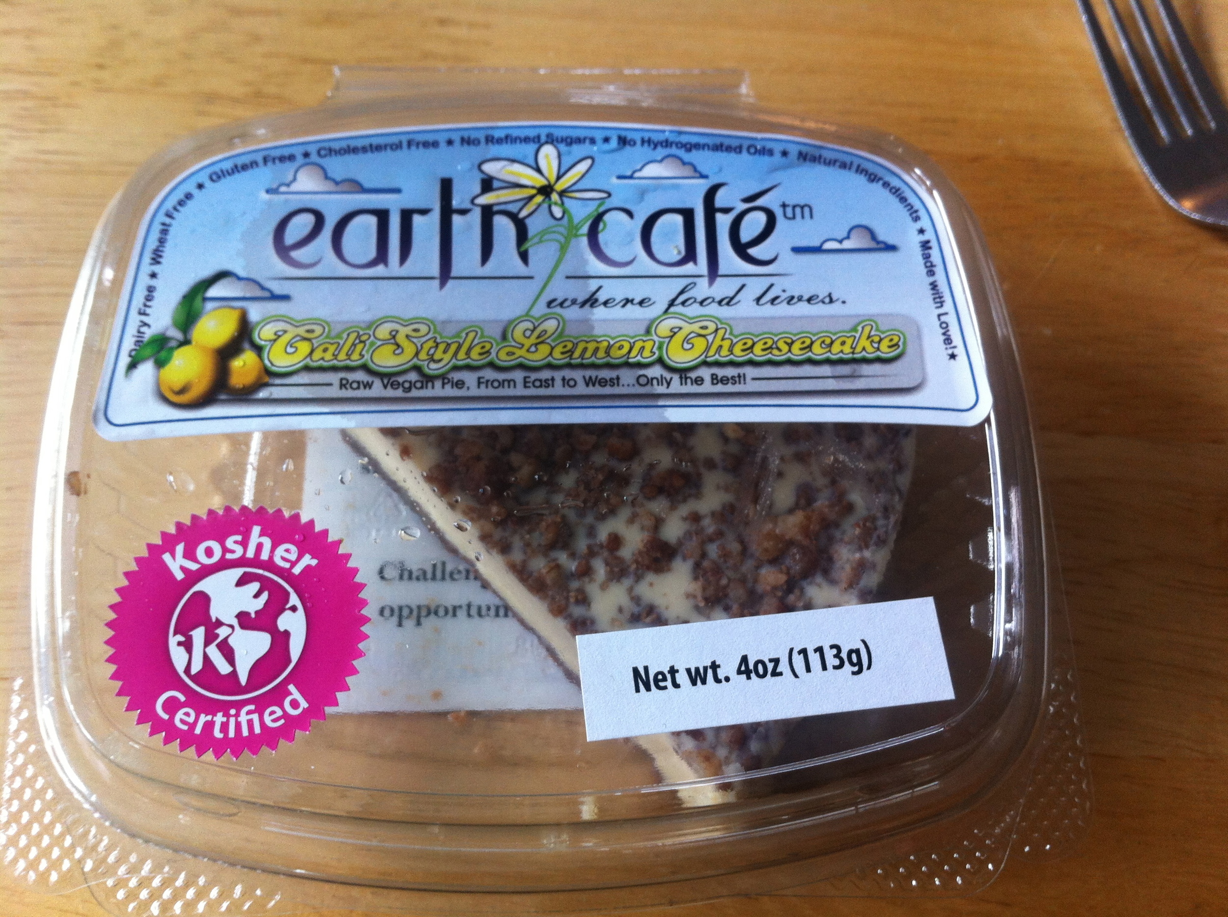 earth cafe raw vegan cheesecake