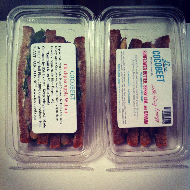 CocoBeet Sandwiches