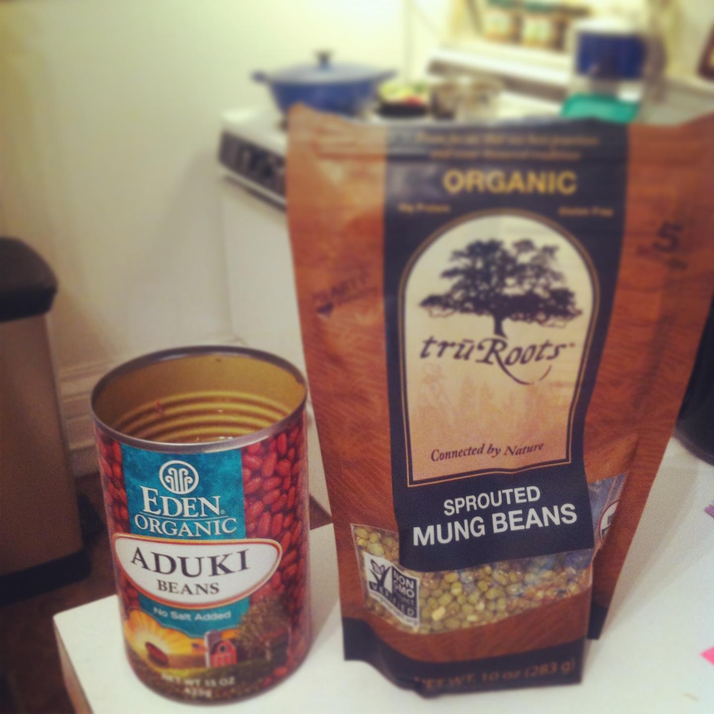 azuki bean and mung bean