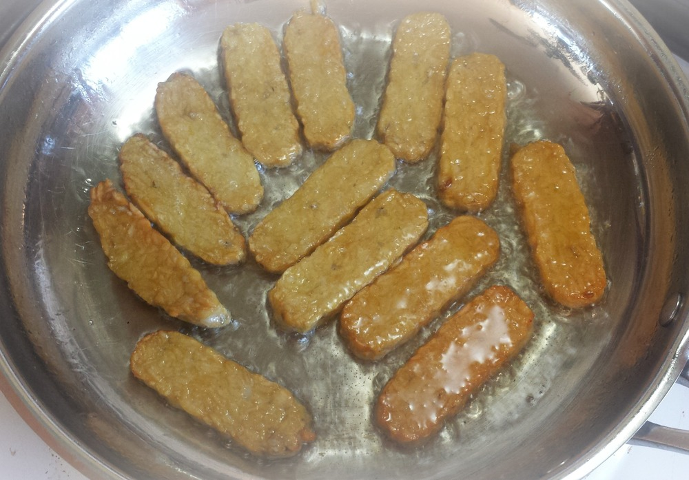 pan fried tempeh
