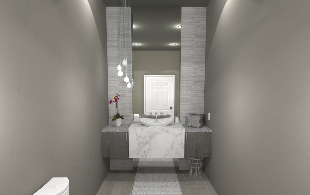 Design Outside the Lines-Contemporary Grey Bathroom