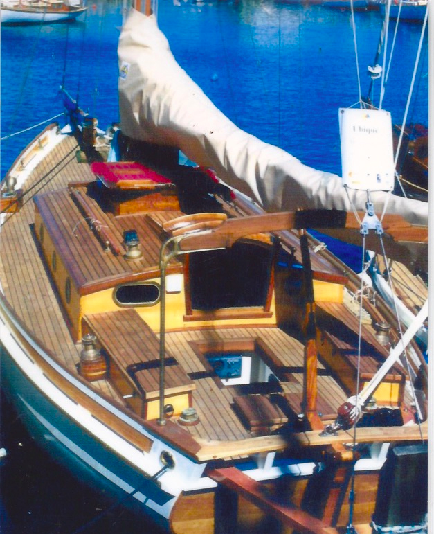 Ubique. Wooden Boat. Huon Pine. Melbourne.