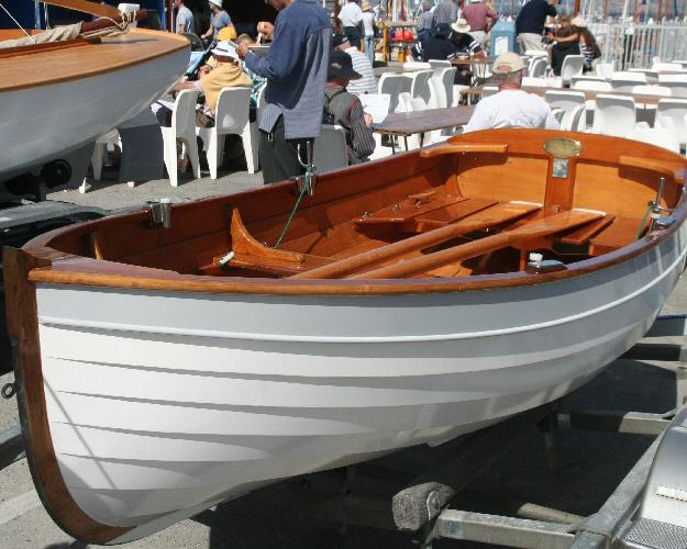 An Oughtred 'Puffin' at a boat show in the US