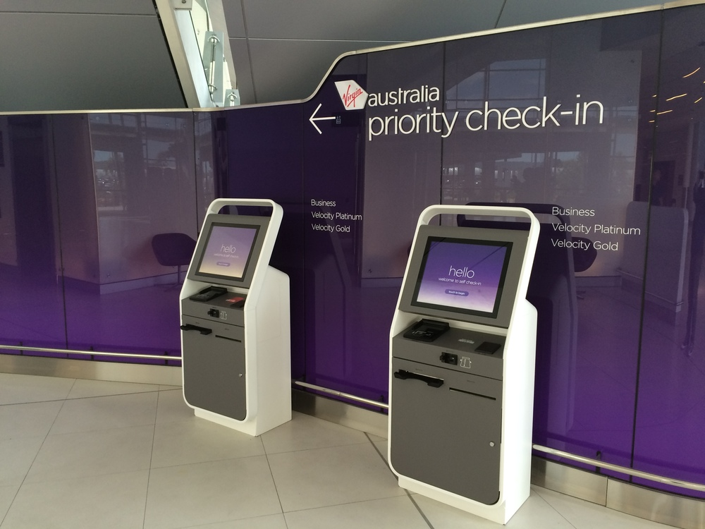 Premium Check-in Kiosks for Business, Gold and Platinum members