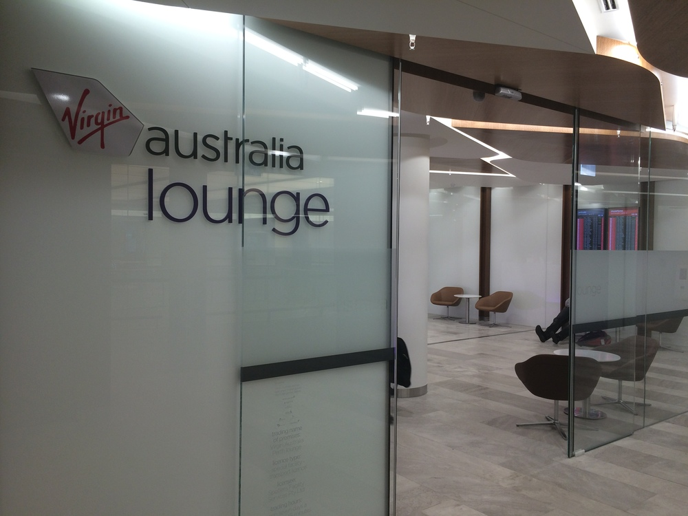 Virgin Australia's Lounge entrance