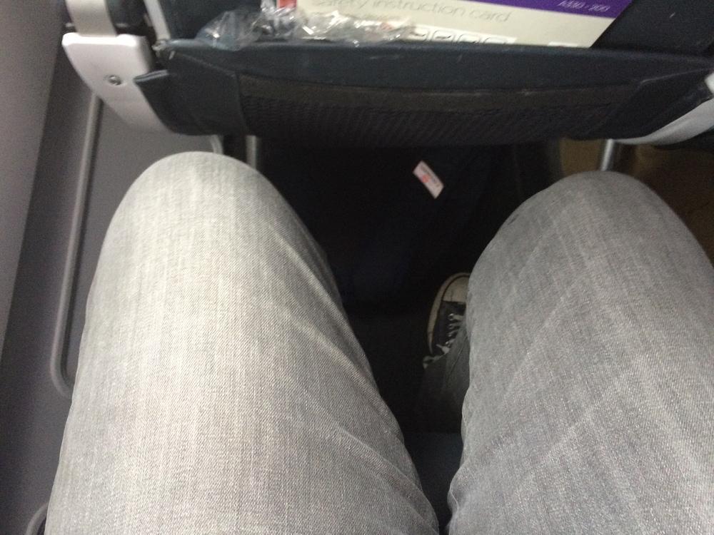 "Virgin Australia Seat. I am 5'8"""