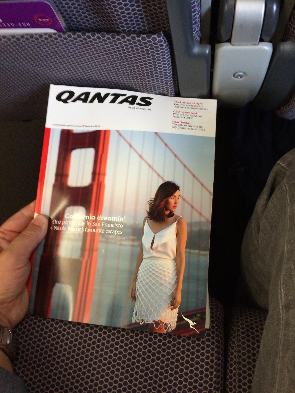 The Qantas Inflight Magazine 'Qantas'
