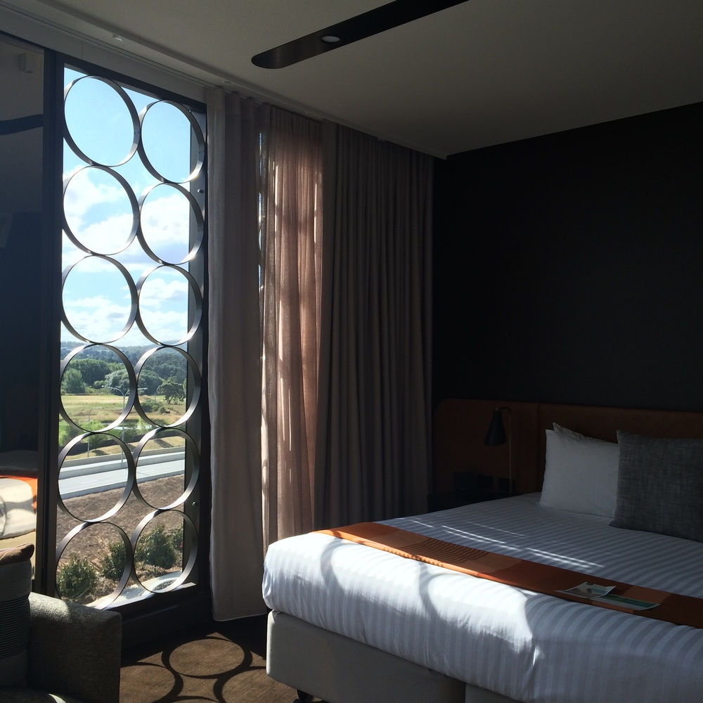 The bed and view