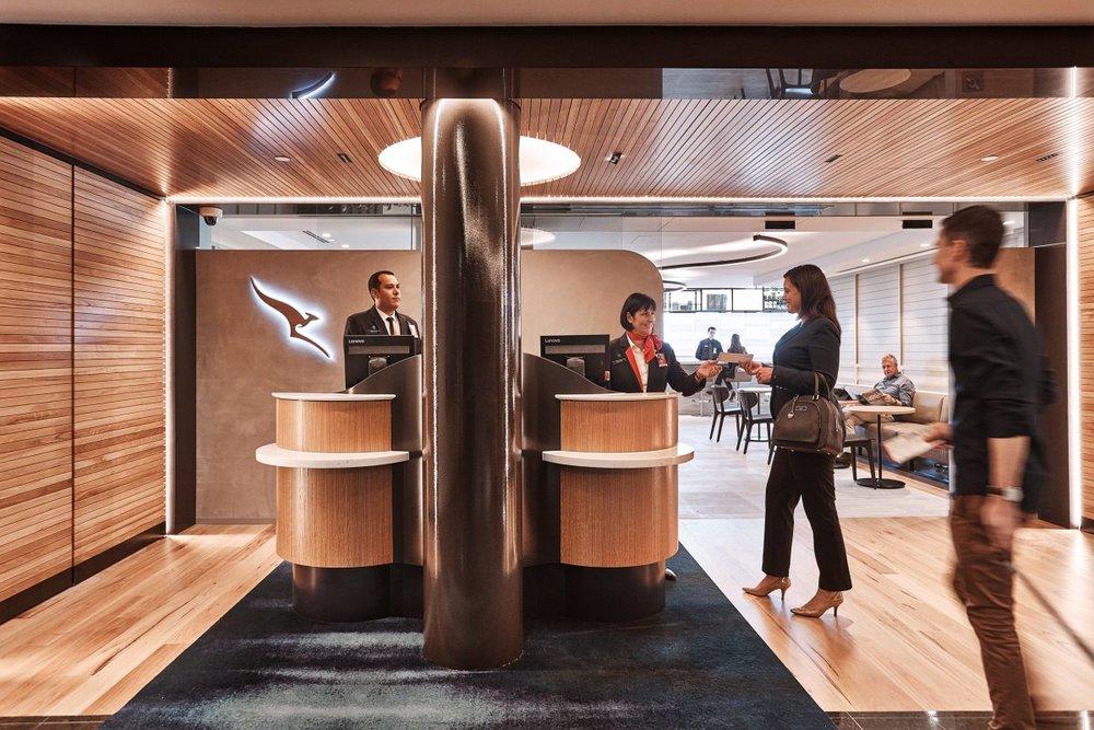 The Lounge Reception - Qantas International Business Lounge, Brisbane