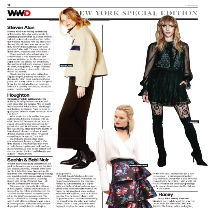 Screenshot of WWD Article
