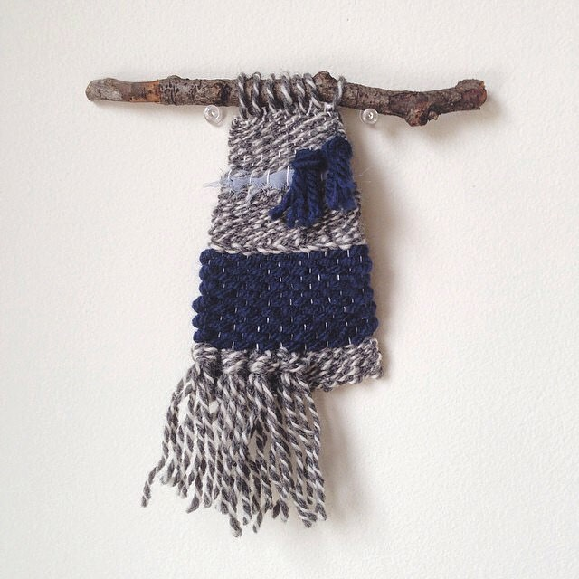 The first woven wall hanging I ever made! 2014