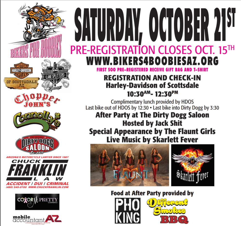 bikers for boobies breast cancer event