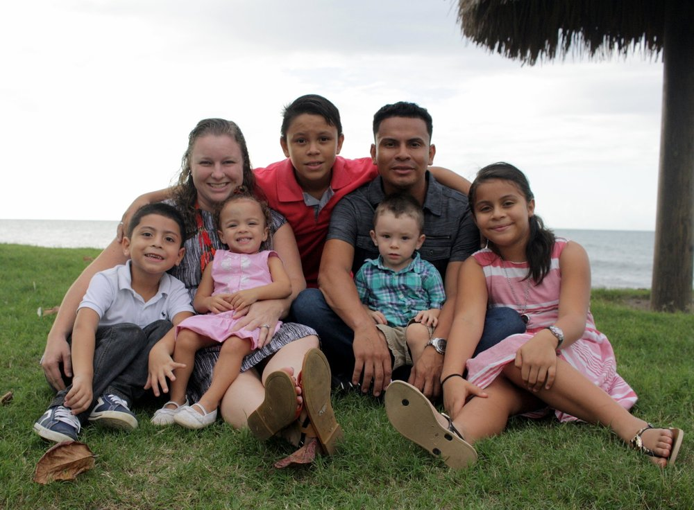 Lesther, Shannon, Angel (12), Nicole (9), Andres (6), Eliana (2), & Wesley (2)