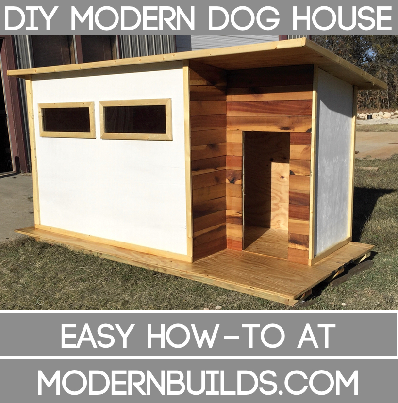 Beautiful Build This Modern Contemporary Dog House Fit For A Whole Canine Family. The  Plans In The Video Are For A Large Shelter, But Remember, Everything Is ...