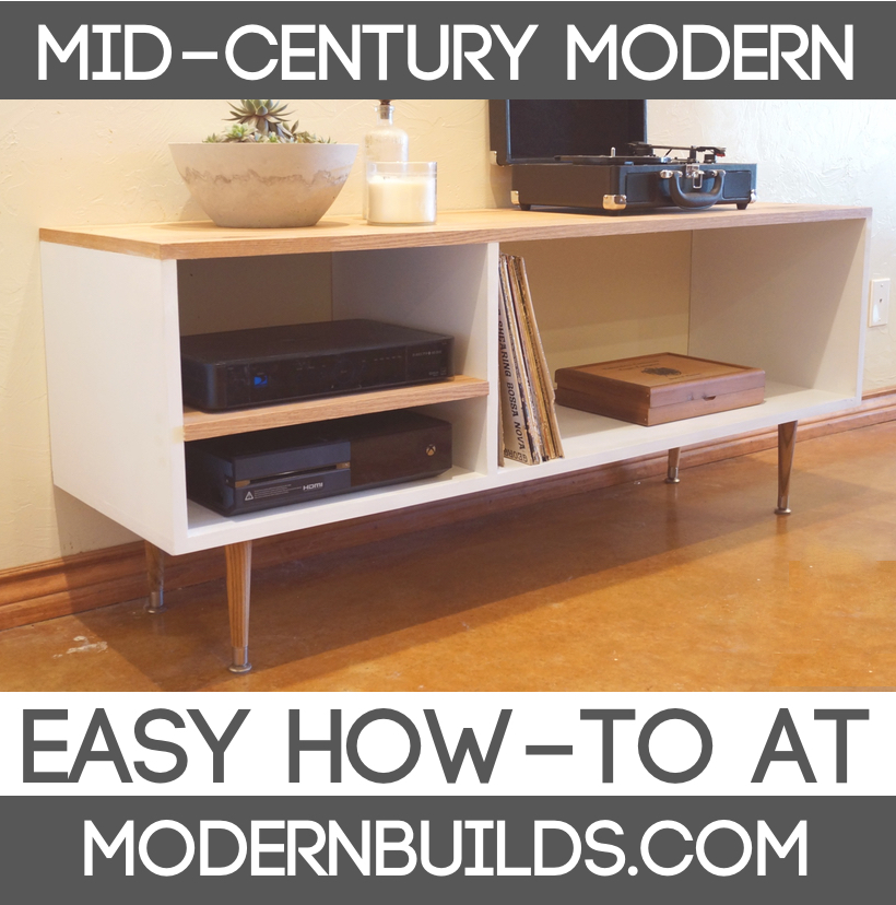 Diy Mid Century Modern Console Table Modern Builds