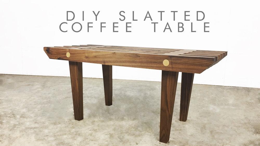 Diy Slatted Coffee Table Modern Builds