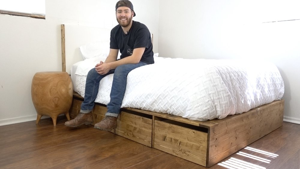 Diy Platform Bed With Storage Modern Builds
