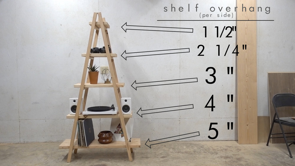 DIY A-FRAME LADDER BOOKSHELF — Modern Builds