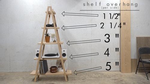 DIY A-FRAME LADDER BOOKSHELF — Modern Builds