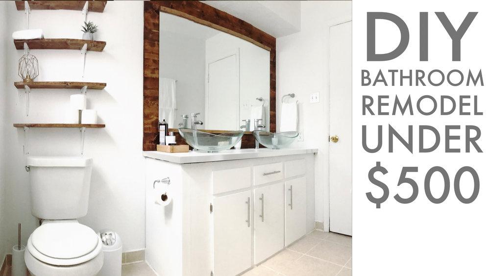 BATHROOM REMODEL UNDER 48 Modern Builds Cool Remodel Bathroom Diy