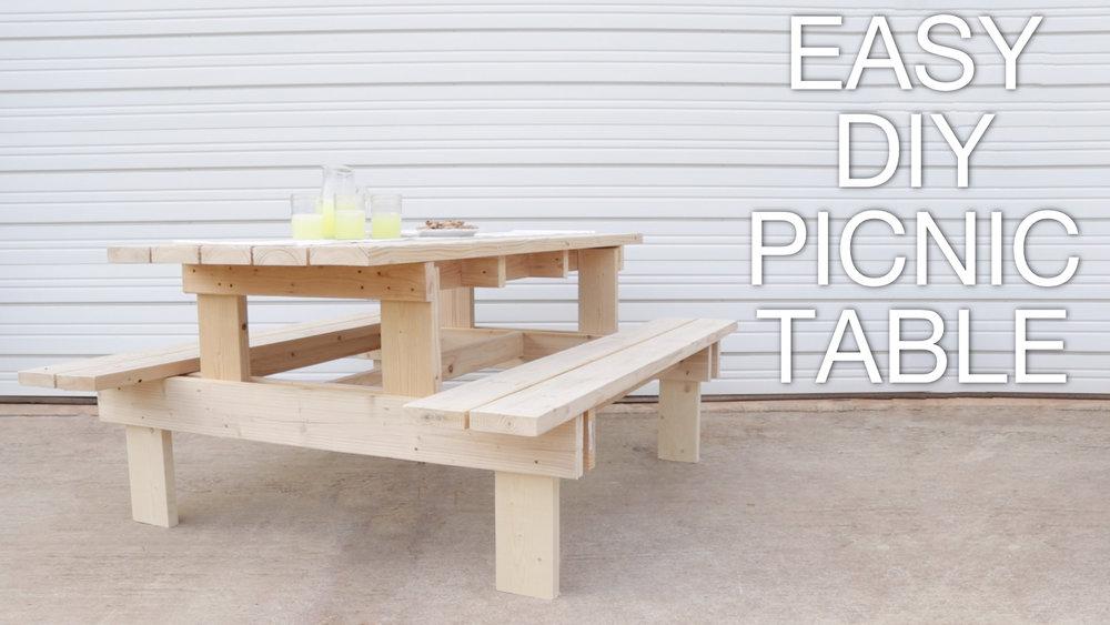 DIY MODERN PICNIC TABLE Modern Builds - Picnic table leg angle