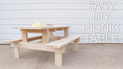 DIY MODERN PICNIC TABLE — Modern Builds