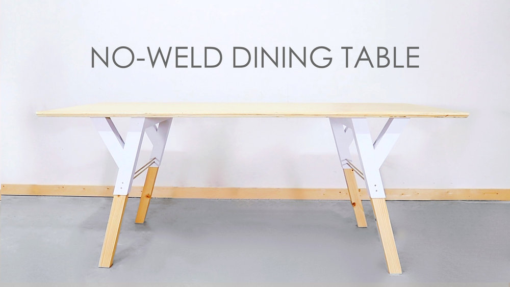 No Weld Dining Table Modern Builds