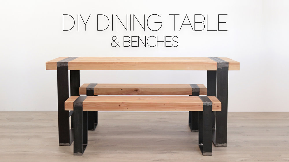 Dining Table Benches Modern Builds