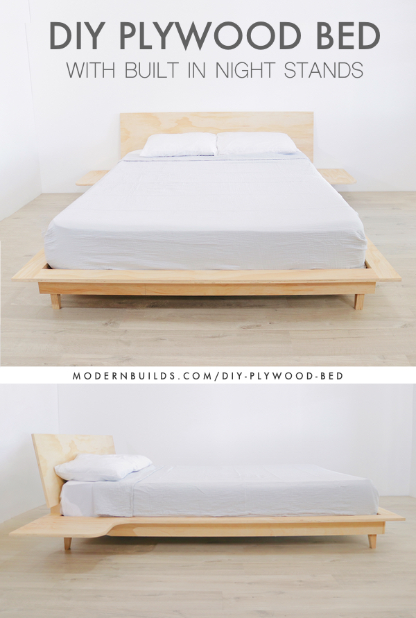 DIY Plywood Bed Modern Builds Pinterest.jpg