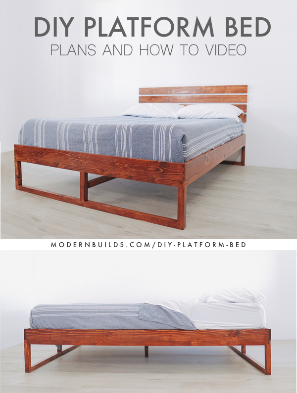 DIY Platform Bed Modern Builds