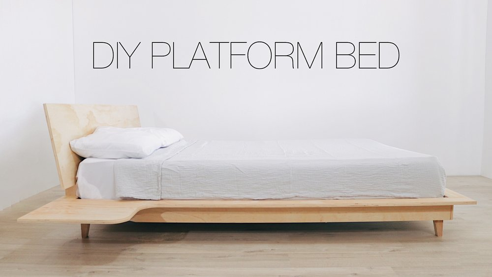 How to build a Plywood Platform Bed with Built-in Nightstands by: Mike Montgomery | Modern Builds