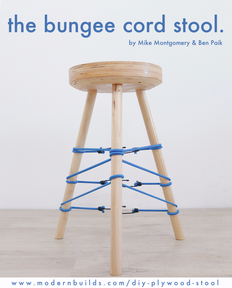 The Bungee Cord Stool. Designed by Mike Montgomery & Ben Paik | Modern Builds