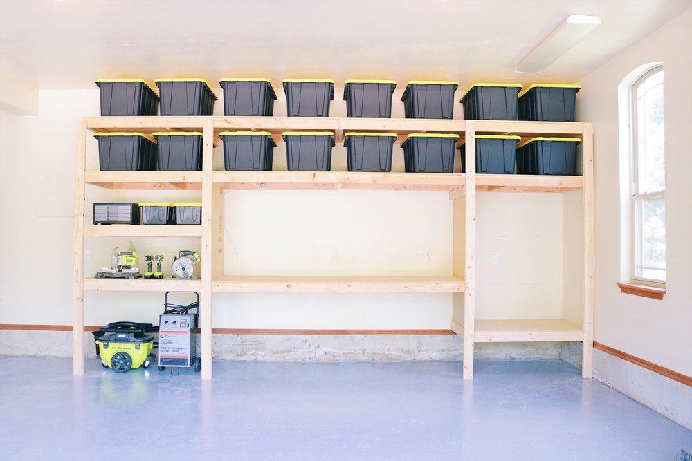 Diy Garage Shelves Modern Builds