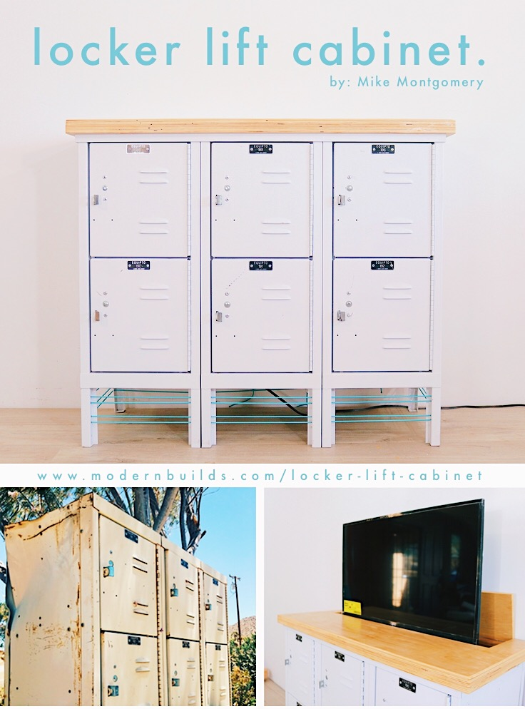 I turned vintage lockers into a modern TV Lift Cabinet. | Mike Montgomery, Modern Builds