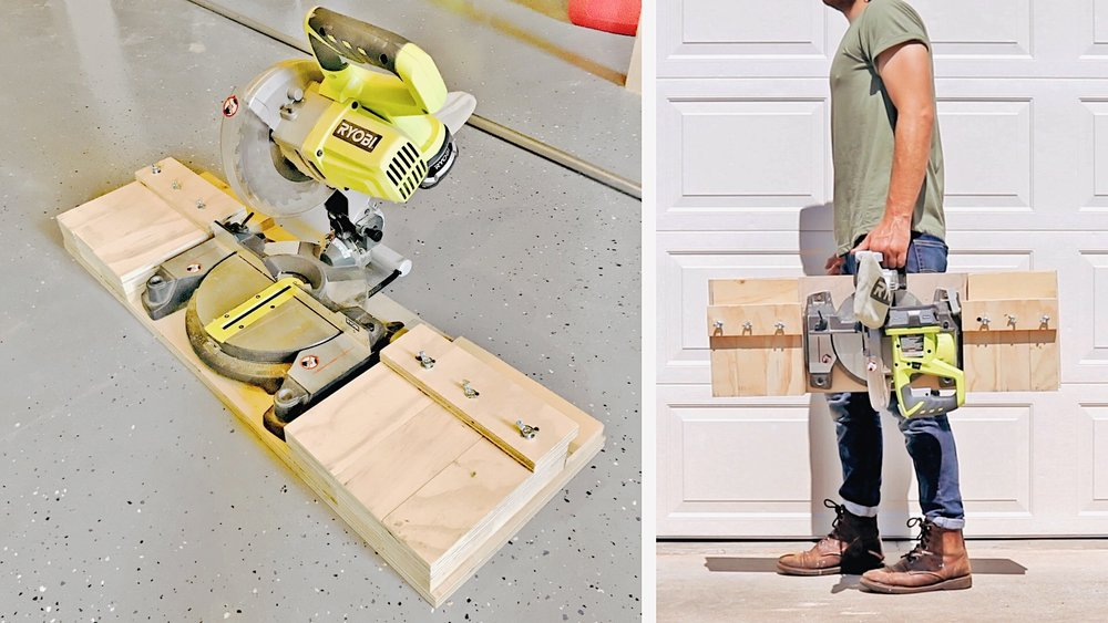 Portable Miter Saw Station by: Mike Montgomery | Modern Builds