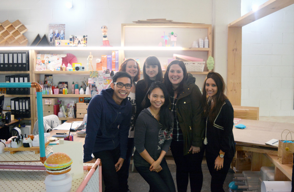The Etsy team from New York, From left, Kaylyn, Camille, Taylor, Ali ; Me and Patrick at the front