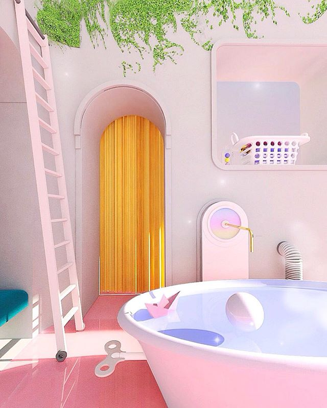 Bubble bath 🛁💙 A little preview for you of @mimawisms ! The inital goal was to share one every two weeks.  However, they are getting a bit more challenging.  Can't wait for you to see this one though! 💖  #mimaw  #mimaworkshop #3d #play #render #sweet #pastel #buzzfeed #pink #cute #love #surrealism #ohwowyes #digital #picame #artdeco #handmade #sprinkles #myunicornlife #abmlifeiscolorful #designboom #madeinmelbourne