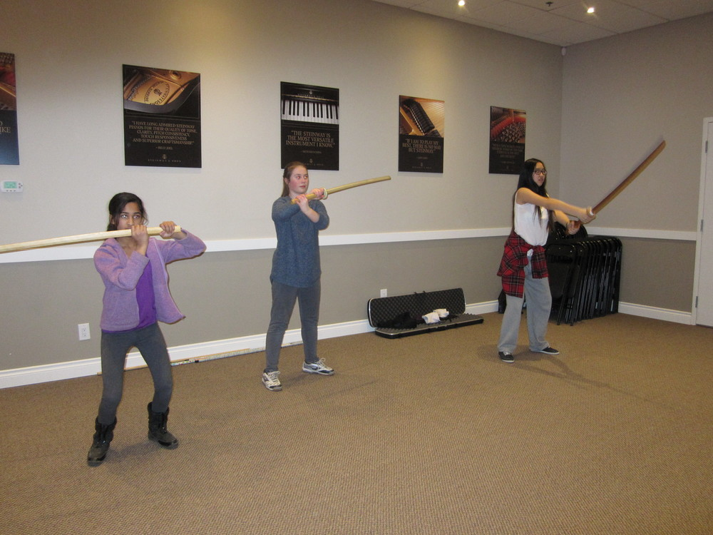 Sword Blocks in Music Class